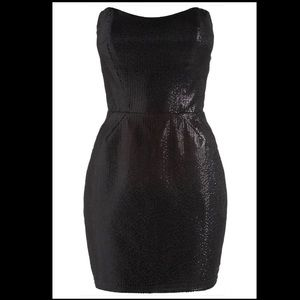 Lipsy Sequin Sculpted Little Black Mini Dress